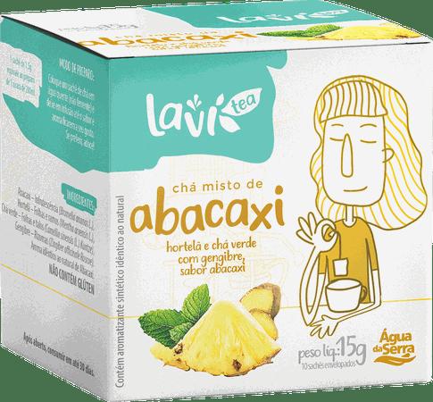 Chá Laví Tea Abacaxi 10 sachês - Misto com Hortelã, Chá Verde e Gengibre