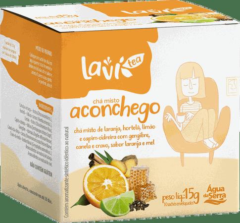 Chá Laví Tea Aconchego 10 sachês - Misto Sabor Laranja e Mel