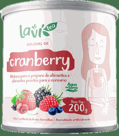 Chá Laví Tea Solúvel Cranberry 200g - Sabor Frutas Vermelhas