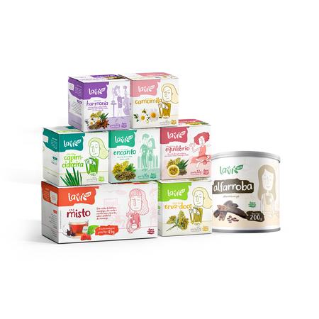 Kit de Chás Pleno - 8 Packs - 90 Sachês + Chá Solúvel