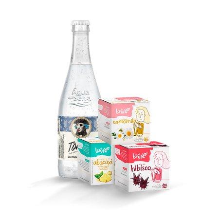 Kit Holiday - Água Tônica + Chá Laví Tea Abacaxi + Hibisco + Camomila