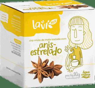 Chá Laví Tea Anis-estrelado 10 sachês - Misto de Mate Tostado