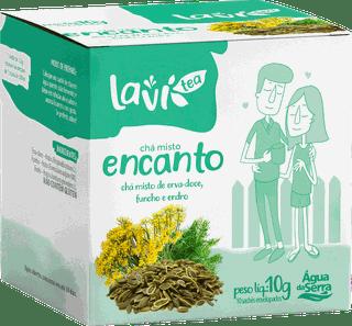 Chá Laví Tea Encanto 10 sachês - Misto de Erva-doce, Funcho e Endro