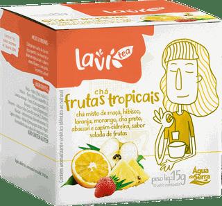 Chá Laví Tea Frutas Tropicais 10 sachês - Misto Sabor Salada de Frutas