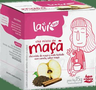 Chá Laví Tea Maçã 10 sachês - Misto de Mate Tostado com Canela Sabor Maçã
