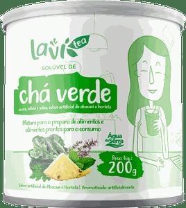Chá Laví Tea Solúvel Chá Verde 200g - Sabor Abacaxi com Hortelã
