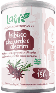 Chá Laví Tea Solúvel Concentrado de Hibisco 150g - Sabor Frutas Negras
